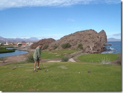 Loreto Bay Golf signature hole with Mark RBuchanan photo