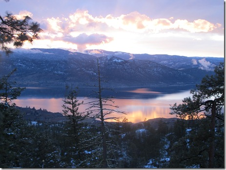 RBuchanan photo Sunset over Penticton St  Patrick's Day 2012