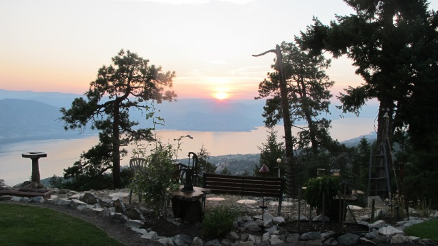 Enjoying the sunset over Summerland. RBuchanan photo