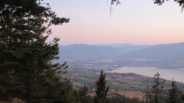 Looking toward Penticton through a gorgeous summer sunset. RBuchanan photo